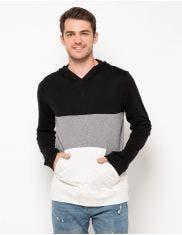 Aeropostale Sweatshirt Pieced Colorblock Hood 5647