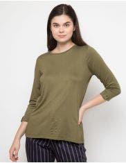 St.Yves T Shirt Lengan 7 Per 8 Knit