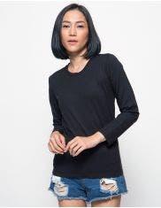 T Zone Women's Long Sleeve Basic Tee