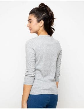 OVS Melange Long Sleeve T Shirt